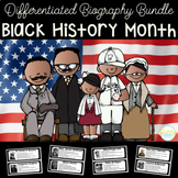 Black History Month BUNDLE| Differentiated Texts | Biographies for Close Reading