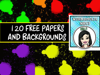 HUGE Bold and Bright Papers Assortment - 120 Papers!