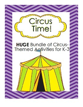 HUGE Bundle of Circus Activities for Kindergarten to Grade 3