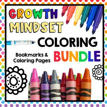 HUGE Bundle of Growth Mindset and Kindness Coloring Pages & Bookmarks