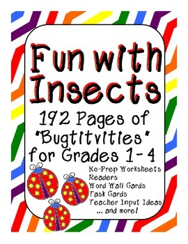 HUGE Bundle of Insect Activities for Grades 1, 2, 3 and 4
