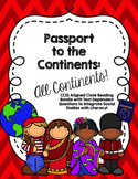 HUGE CCSS Aligned 7 Continent Close Reading Bundle - Over 140 Pages
