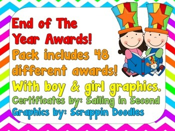 HUGE Chevron End of the Year Awards Bundle - Boy & Girl Graphics on EACH AWARD!