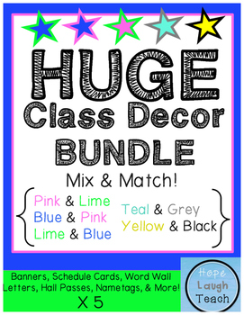 HUGE Classroom Decor Bundle Pack