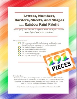 HUGE Clip Art Bundle Letters, Borders, Sheets, and Shapes Personal & Commercial