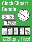 HUGE Clock Clip Art Bundle ~ Digital & Analog Clocks ~ Sma