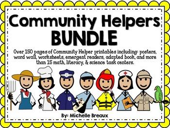 HUGE Community Helpers Math & Literacy Bundle Pre-K, K, 1, Special Education