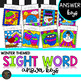 K-5th Differentiated Color by Code Sight Word Winter Activities