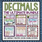HUGE Decimals Bundle Pack Add, Subtract, Multiply, Divide, Round, Expanded Form