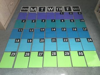HUGE Dry Erase Wall Calendar