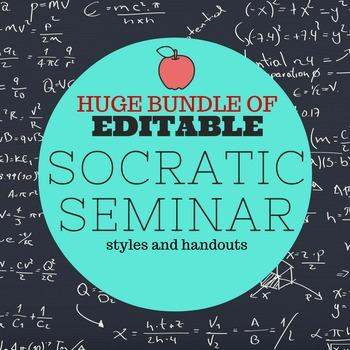 HUGE EDITABLE Socratic Seminar BUNDLE