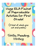 HUGE ELA Packet for Skills, Reading, and Writing (A lot of