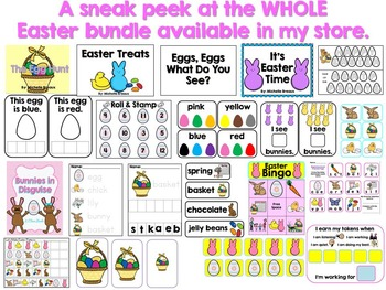 HUGE Easter Spring Bundle Math & Literacy Centers PreK, K, 1, 2, SPED, SLP