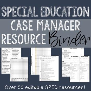 HUGE Editable SPED Case Manager Binder!!