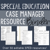 HUGE Editable SPED Case Manager Binder!!