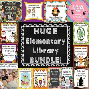 HUGE Elementary Library Product BUNDLE!