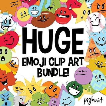 HUGE Emoji Clipart Bundle! | 24 sets of facial expression