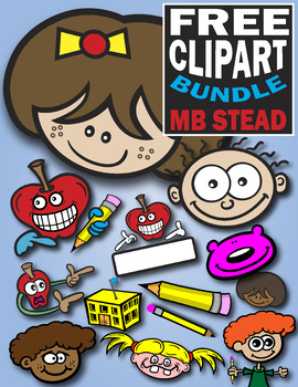 SCHOOL CLIP ART: kids, apples, pencils and more!