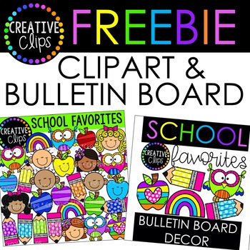 huge freebie school favorites creative clips digital clipart tpt rh teacherspayteachers com February Clip Art for Teachers Teacher Graphics