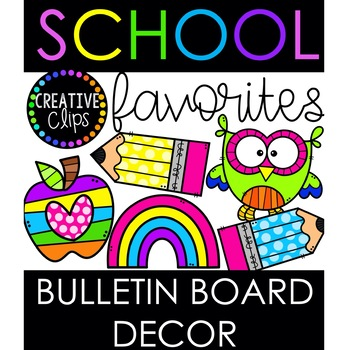 FREE Clipart and FREE Bulletin Board Elements  {Distance Learning Decor}