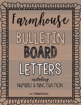 HUGE Farmhouse Letters for Bulletin Boards