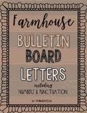 HUGE Farmhouse Letters for Bulletin Boards
