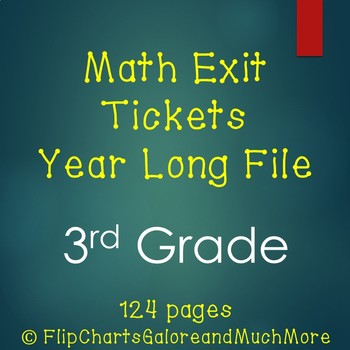 HUGE File ~ Math Quick Check Slips / Exit Tickets 3rd Grade CCSS ~ All Strands