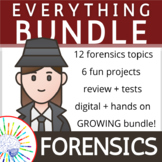 HUGE Forensics Science Bundle! Lessons, Activities, Projects, Review, Tests!