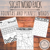 HUGE Fountas and Pinnell Sight Word Pack