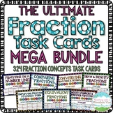 Fraction Task Cards Bundle | Distance Learning | Google Classroom