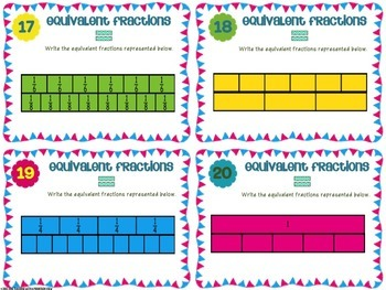 Fraction Task Cards Bundle | Distance Learning | Google Classroom