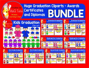 HUGE Graduation Cliparts Certificates Diplomas Awards  BUNDLE