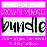 HUGE Growth Mindset Bundle (Posters, Coloring Pages, Exit Slips, Activities)