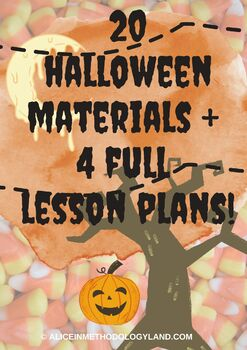 HUGE Halloween Bundle  - 4 full lesson plans + 20 materials