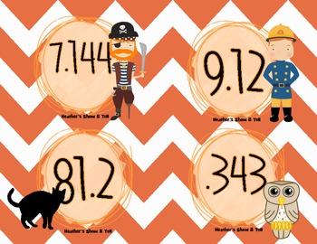 HUGE Halloween Themed Rounding Pack! Task Cards