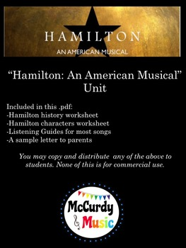 "HUGE ""Hamilton: an American Musical"" Unit for Middle / Hig"