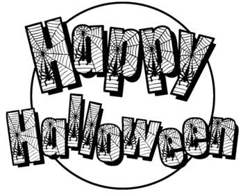 Pictures Kids Can Color | Huge Happy Halloween Poster That Kids Can Color By Lacey Boundy