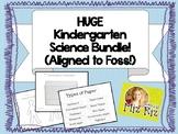 HUGE Kindergarten Science Bundle!  17 pages of printables! Aligned to Foss!