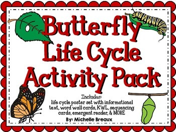 HUGE Life Cycles Activity Bundle for Butterfly, Frog, Chicken, and Apple Tree