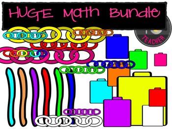 HUGE Math Bundle {TeacherToTeacher Clipart}