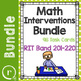 Full Math Interventions, Review or Test Prep Task Card Bun