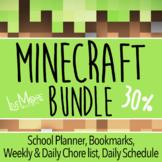 HUGE Minecraft Bundle Student Planner, Daily Schedule, 3 C