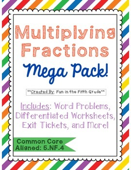 HUGE Multiplying Fractions Bundle!