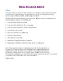 HUGE Music Binder - Songs, Singing, Lyrics, Assessment, Ac