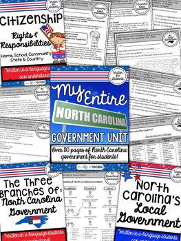 My Entire North Carolina Government Unit | BUNDLE