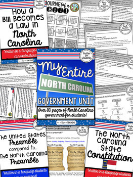 My Entire North Carolina Government Unit | BUNDLE