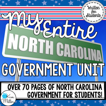 My Entire North Carolina Government Unit {BUNDLE}