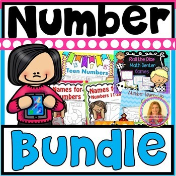 HUGE Number Sense BUNDLE! NINE PRODUCTS (Games, Teens, Counting & Cardinality)