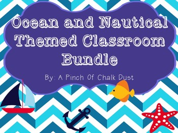 HUGE Ocean Theme Classroom decoration Bundle!