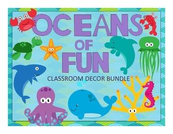 HUGE Ocean Theme Classroom Decor Bundle
